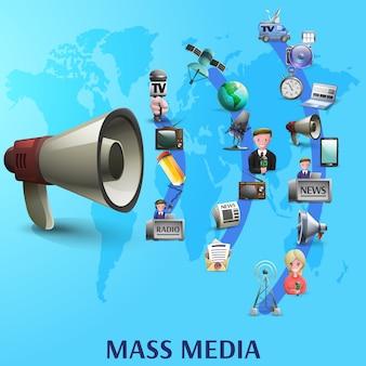 Póster de medios de comunicación