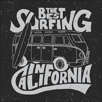 Póster mejor surfista de california