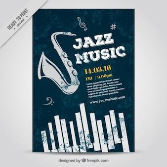 Póster de música jazz
