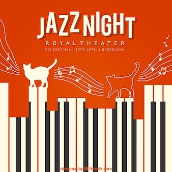 Póster de noche de jazz