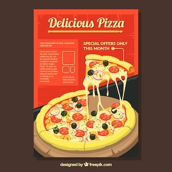 Póster de pizza deliciosa