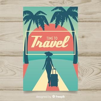 Poster plano de viajes vintage