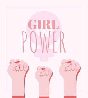 Póster de poder femenino