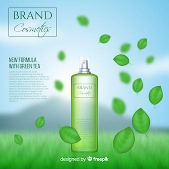 Poster realista de anuncio de cosmético natural