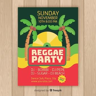 Póster reggae palmeras