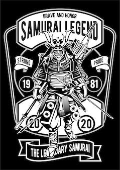 Póster samurai