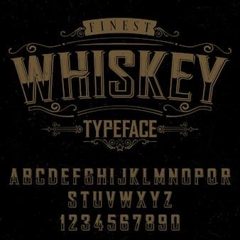 Póster la tipografía de whisky más fino