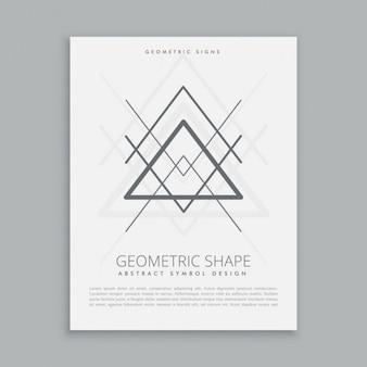 Póster de triángulos sagrados