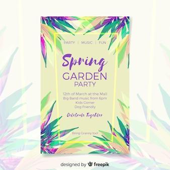 Póster tropical fiesta primavera