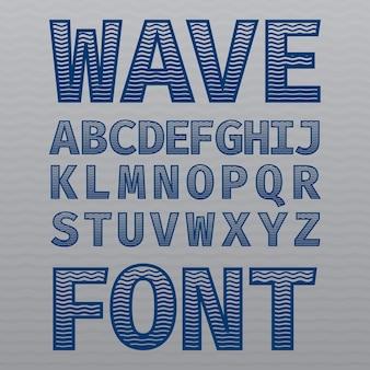 Póster wave vintage font