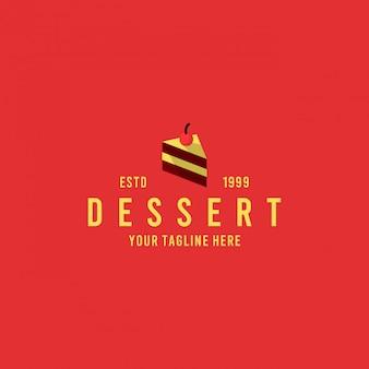 Postre minimalista diseño de logotipo inspiración