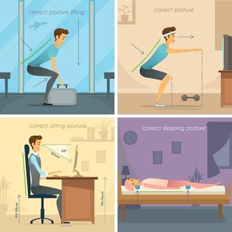 Postura 2x2 design concept