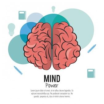 Potencia mental y plantilla cerebral con información