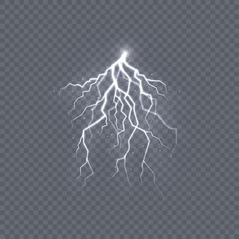 Potente descarga de electricidad por tormenta