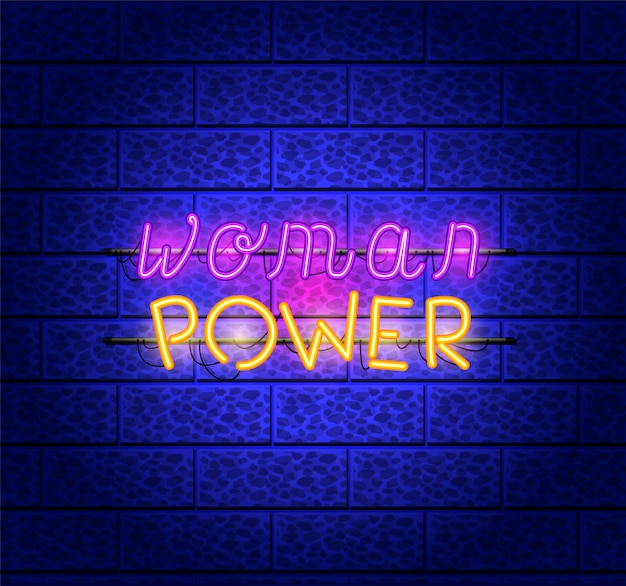Power girl fonts luces de neón