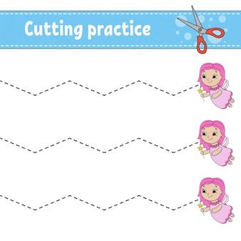 Práctica de corte para niños.
