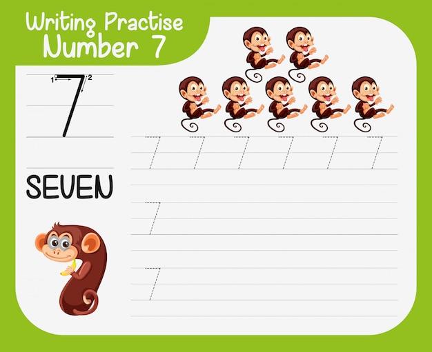 Práctica de escritura número siete.