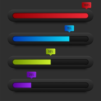 Precargadores y barras de carga de progreso