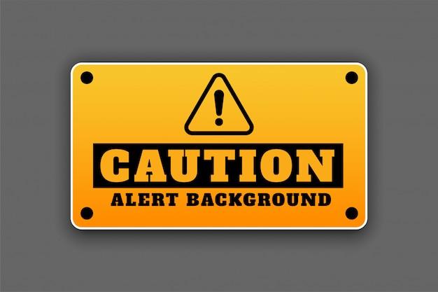 Precaución alerta fondo señalización atención signo diseño