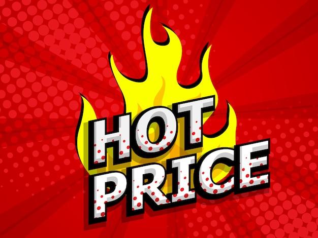 Precio caliente en venta descuento etiqueta cómic, pop art
