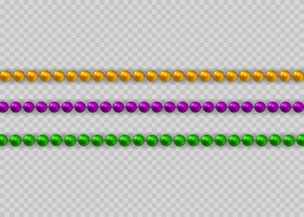Preciosa cadena de diferentes colores.