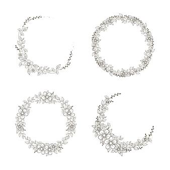 Preciosa colección de coronas florales.