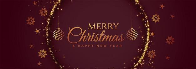 Preciosa pancarta de feliz navidad decorativa