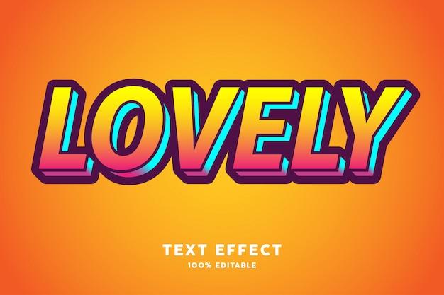 Precioso degradado amarillo y efecto de texto cian