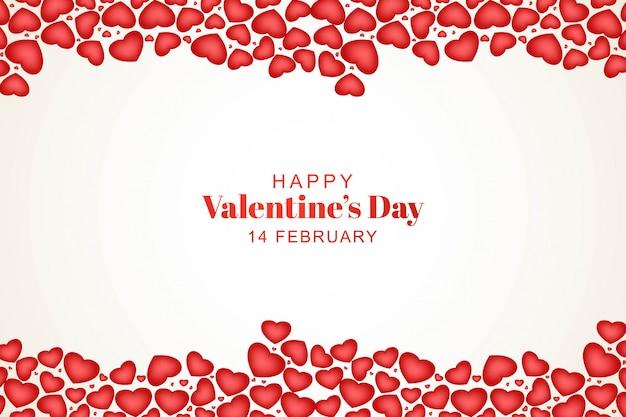Precioso feliz día de san valentín con corazones decorativos