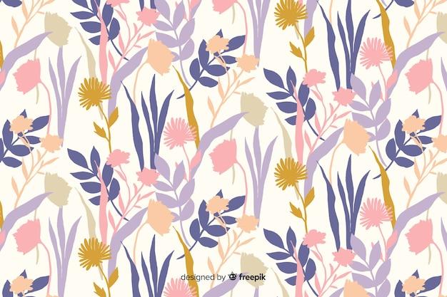 Precioso fondo colorido con composición floral