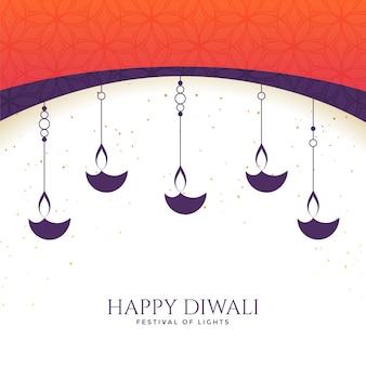 Precioso fondo diwali diya feliz