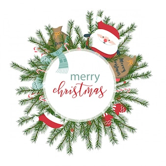 Precioso fondo navideño con diseño plano.