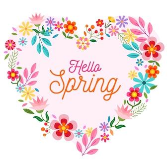 Precioso marco floral de primavera