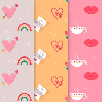 Precioso paquete de patrones de san valentín