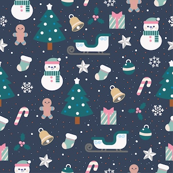 Precioso patrón sin costuras de navidad