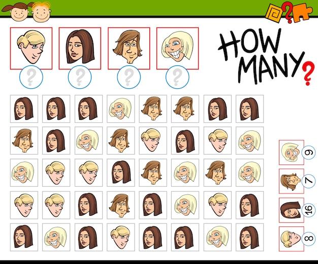 Preescolar contar tarea de dibujos animados