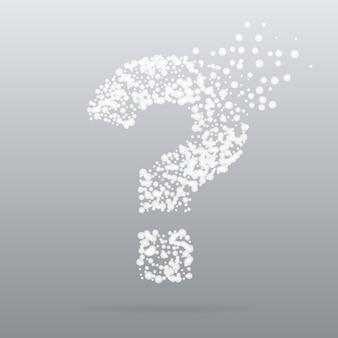Pregunta concepto creativo en estilo de partículas