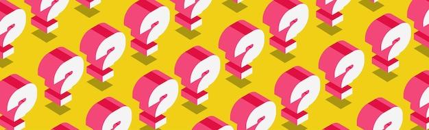 Pregunta fondo vector estilo isométrico quiz símbolo examen prueba burbuja texto ayuda firmar faq