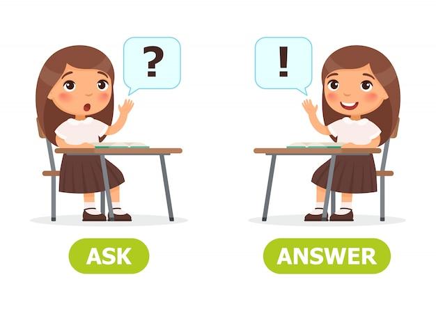 Preguntar y responder ilustración.