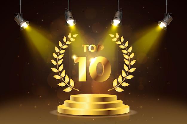Premio al mejor podio entre los 10 mejores