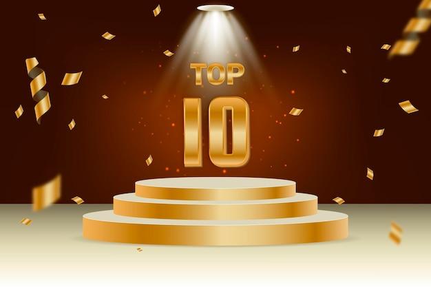Premio al mejor podio de los diez primeros