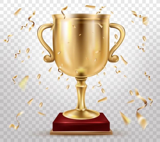 Premio de competición deportiva 3d realista