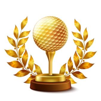 Premio de golf de oro