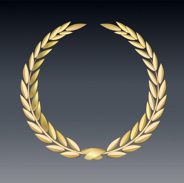 Premio laurel aislado en un fondo transparente. plantilla de ganador. símbolo de victoria y logro.