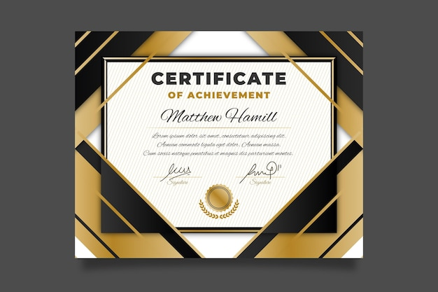 Premio de plantilla de diploma