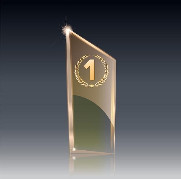 Premio trofeo de cristal.