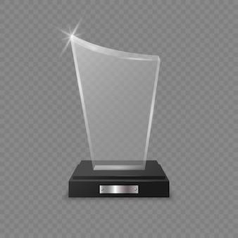 Premio trofeo de cristal