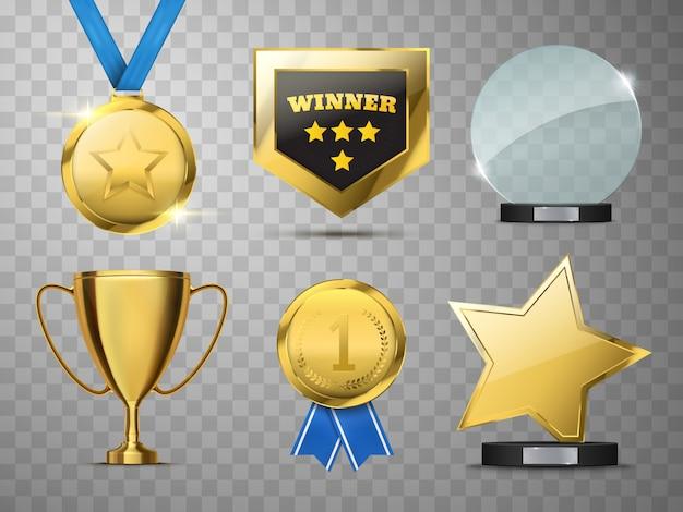 Premios colección de vectores.