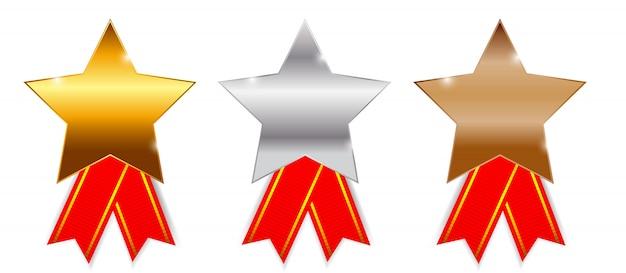 Premios de oro, plata y bronce.
