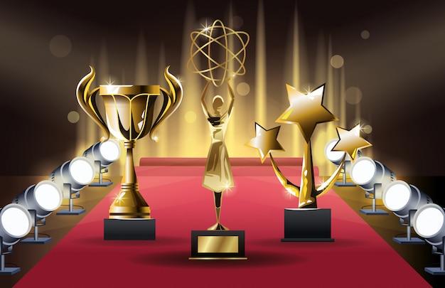 Premios de películas set trofeos s